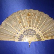 Antigüedades: ABANICO SEDA Y MARFIL (CON FALTAS). Lote 111046492