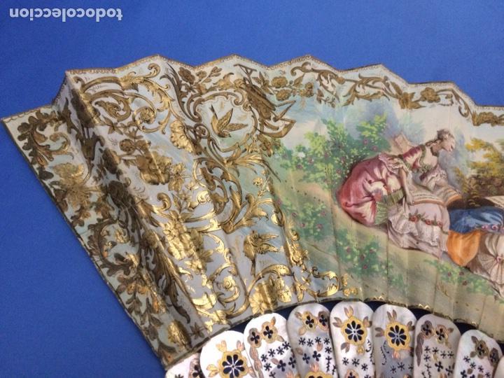 Antigüedades: Antiguo abanico (con faltas) - Foto 5 - 111051552