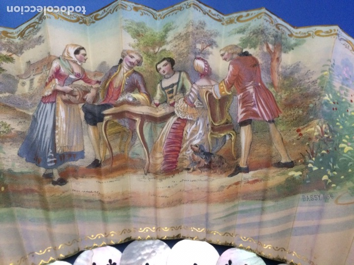 Antigüedades: Antiguo abanico (con faltas) - Foto 9 - 111051552