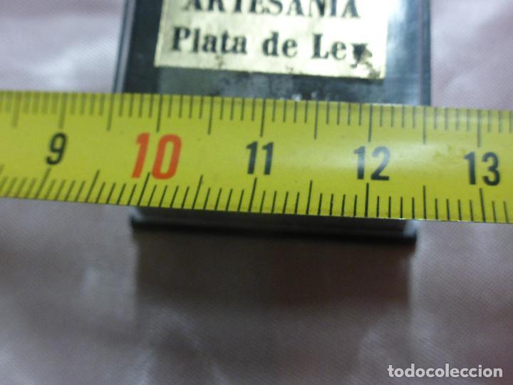 Antigüedades: ANTIGUO PRECIOSO PIN BROCHE-FLOR FILIGRANA PLATA DE LEY PARA OJAL O SOLAPA-ORIGINAL MEDIADOS S. XX - Foto 6 - 111055711