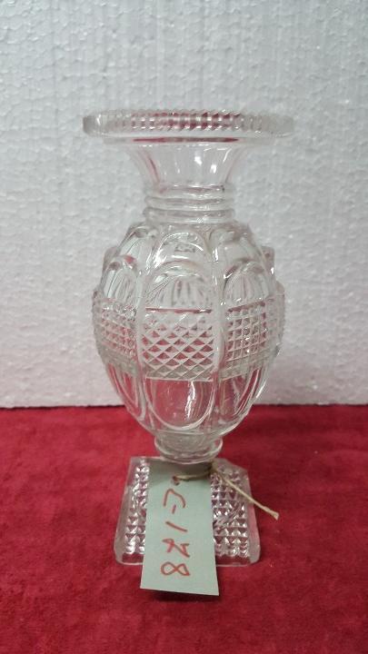 JARRÓN ANTIGUO CRISTAL TALLADO CARTAGENA BCD - 178 (Antigüedades - Cristal y Vidrio - Santa Lucía de Cartagena)