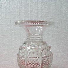 Antigüedades: JARRÓN ANTIGUO CRISTAL TALLADO CARTAGENA BCD - 178. Lote 88473584