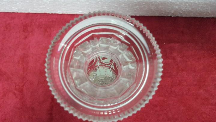 Antigüedades: JARRÓN ANTIGUO CRISTAL TALLADO CARTAGENA BCD - 178 - Foto 5 - 88473584