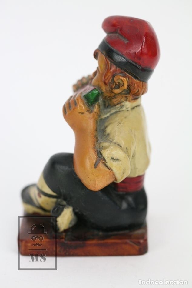 Antigüedades: Escultura de Resina Policromada - Niño Catalán Comiendo Sandia - RD. Hostalrich/Hostalric - Foto 2 - 111083127
