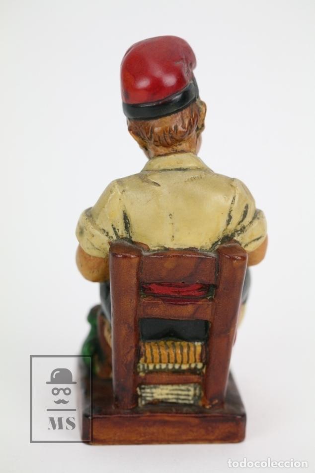 Antigüedades: Escultura de Resina Policromada - Niño Catalán Con Mortero - RD. Hostalrich/Hostalric - Foto 3 - 111083226