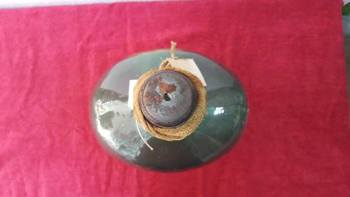 Antigüedades: BOTELLA ANTIGUA CRISTAL TINTADO CARTAGENA BCD - 086 - Foto 3 - 210558136
