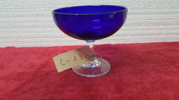 COPA ANTIGUA CRISTAL AZUL CARTAGENA 5000 - 134 (Antigüedades - Cristal y Vidrio - Santa Lucía de Cartagena)