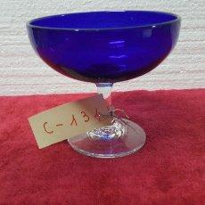 Antigüedades: COPA ANTIGUA CRISTAL AZUL CARTAGENA 5000 - 134. Lote 90949320
