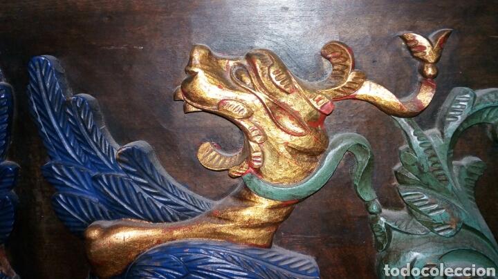 Antigüedades: BARGUEÑO LICORERO DE NOGAL TALLADO ETIQUETADO DE LA SALA DE ARTE JOAQUIM SOROLLA RECOGIDA A CARGO - Foto 14 - 110524668