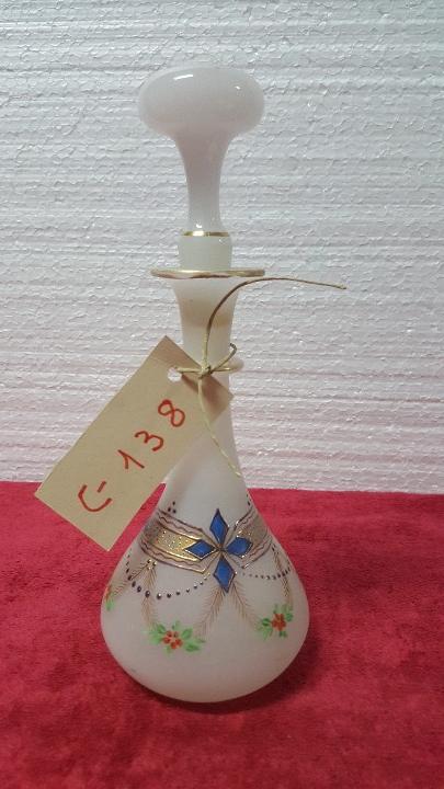 BOTELLA ANTIGUA DE CRISTAL OPALINA 5000 - 138 (Antigüedades - Cristal y Vidrio - Otros)