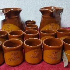 Antigüedades: JARRAS Y VASOS EN CERÁMICA ESMALTADA 5000 - 162. Lote 90951510