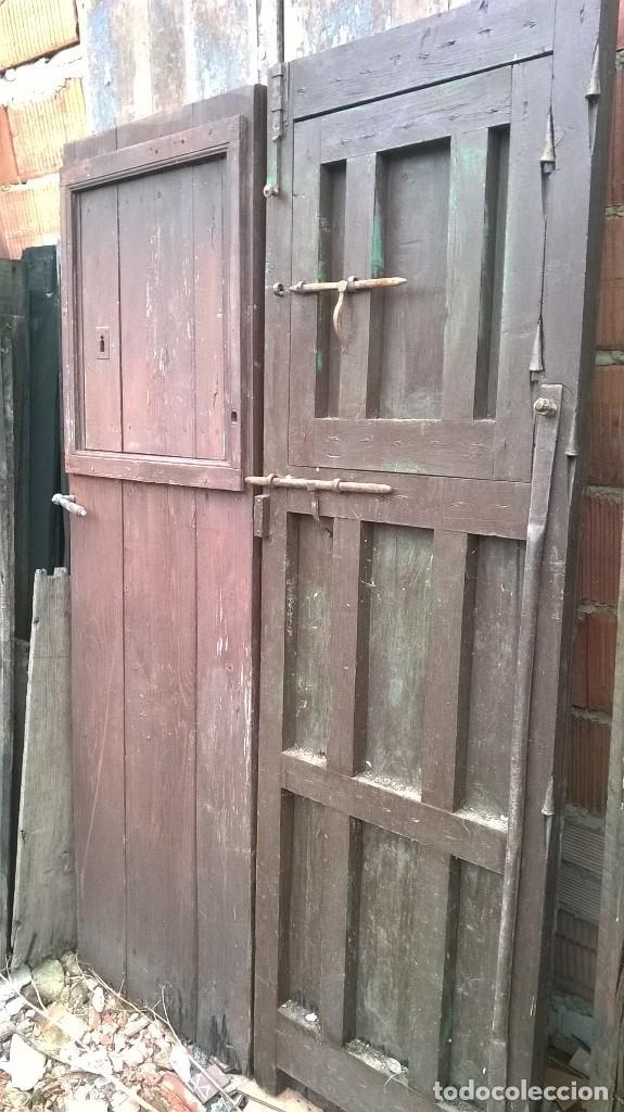 Lote de puertas antiguas de casta o dos hojas c comprar antig edades varias en todocoleccion - Puertas de castano ...