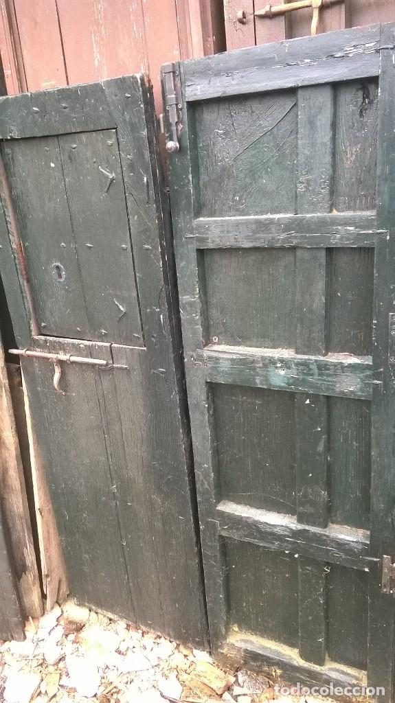 Puertas antiguas de casta o verdes con cerrojos comprar antig edades varias en todocoleccion - Puertas de castano ...