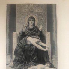 Antigüedades: TAPIZ SOBRE SEDA DE LA VIRGEN MARÍA , D'APRES BOUGUEREAU.. Lote 111208167