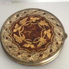 Antigüedades: ANTIGUA POLVERA DE CAREY Y METAL PLATEADO. . Lote 111213123
