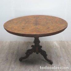 Antigüedades: MESA ANTIGUA DE MADERA AUXILIAR. 1850 - 1880. Lote 111280319