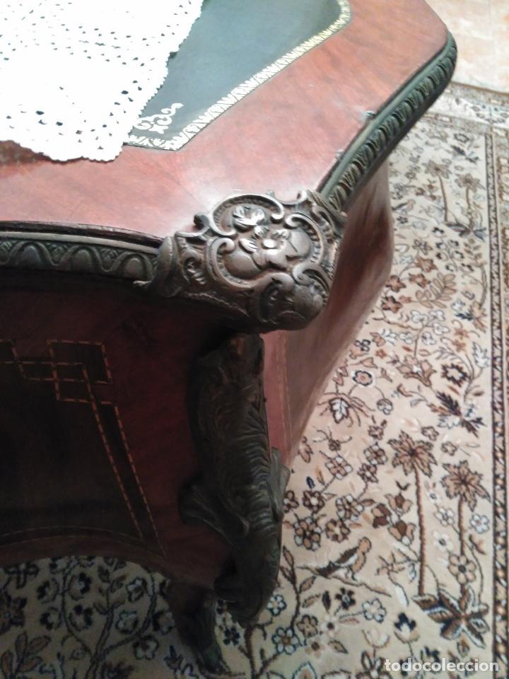 Antigüedades: ANTIGUA IMPRESIONANTE 180 cm. MESA DESPACHO PALACIO SEÑORIAL LUJO LUIS XV PERFECTA APLIQUES 9300,0 € - Foto 27 - 111294527