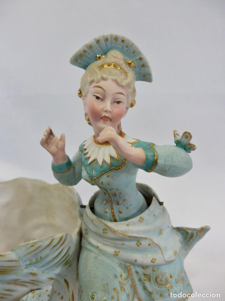 Antigüedades: Maravilloso Biscuit Nodder o de Nana, oscilante, la figura se balancea. Conte & Boehme s XIX - Foto 4 - 111316999