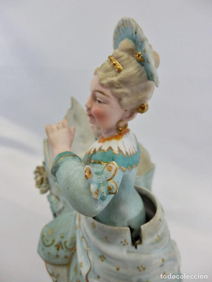 Antigüedades: Maravilloso Biscuit Nodder o de Nana, oscilante, la figura se balancea. Conte & Boehme s XIX - Foto 6 - 111316999