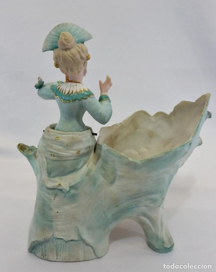 Antigüedades: Maravilloso Biscuit Nodder o de Nana, oscilante, la figura se balancea. Conte & Boehme s XIX - Foto 7 - 111316999