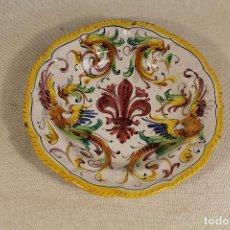 Antigüedades: PLATO EN CERAMICA - ITALIA. Lote 111318067