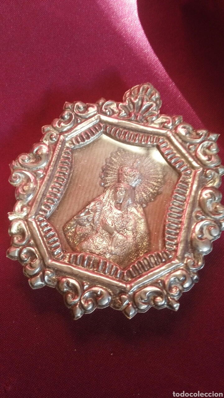 RELICARIO DE PLATA DE LA MACARENA (Antigüedades - Religiosas - Cruces Antiguas)