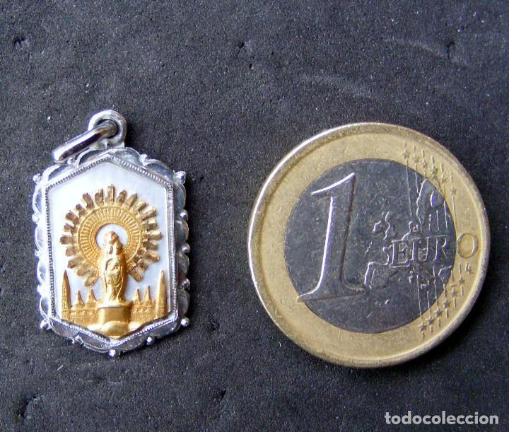 MEDALLA, VIRGEN DEL PILAR (Antigüedades - Religiosas - Medallas Antiguas)