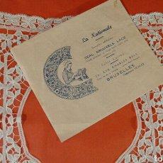 Antigüedades: ENCAJE DE BRUSELAS PAÑUELO. Lote 111329720