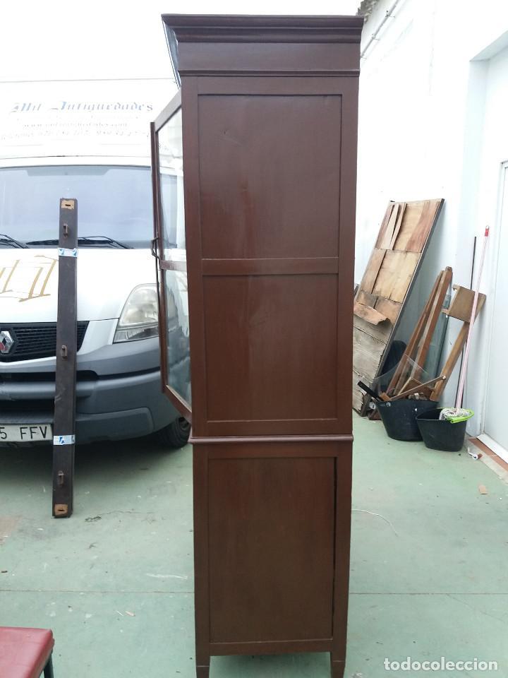 Antigüedades: mueble vitrina - Foto 2 - 111333035
