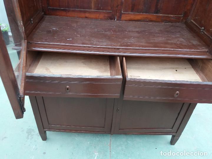 Antigüedades: mueble vitrina - Foto 4 - 111333035