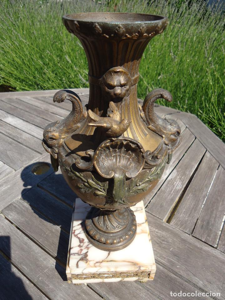 Antigüedades: IMPRESIONANTE JARRON SIGLO XIX BRONCE Y MARMOL ALTURA 40 cm PESO 4,450 KG. PERFECTO ESTADO 395,00 - Foto 9 - 93124330