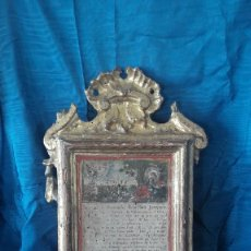 Antigüedades: SACRA DEL S.XVIII TALLADA EN MADERA. Lote 111342519