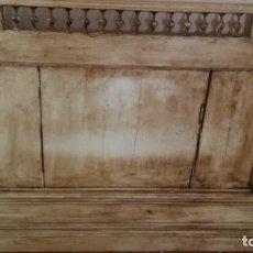 Antigüedades: CABECERO CIRCA 1900 BEIGE DECAPADO. Lote 111345051