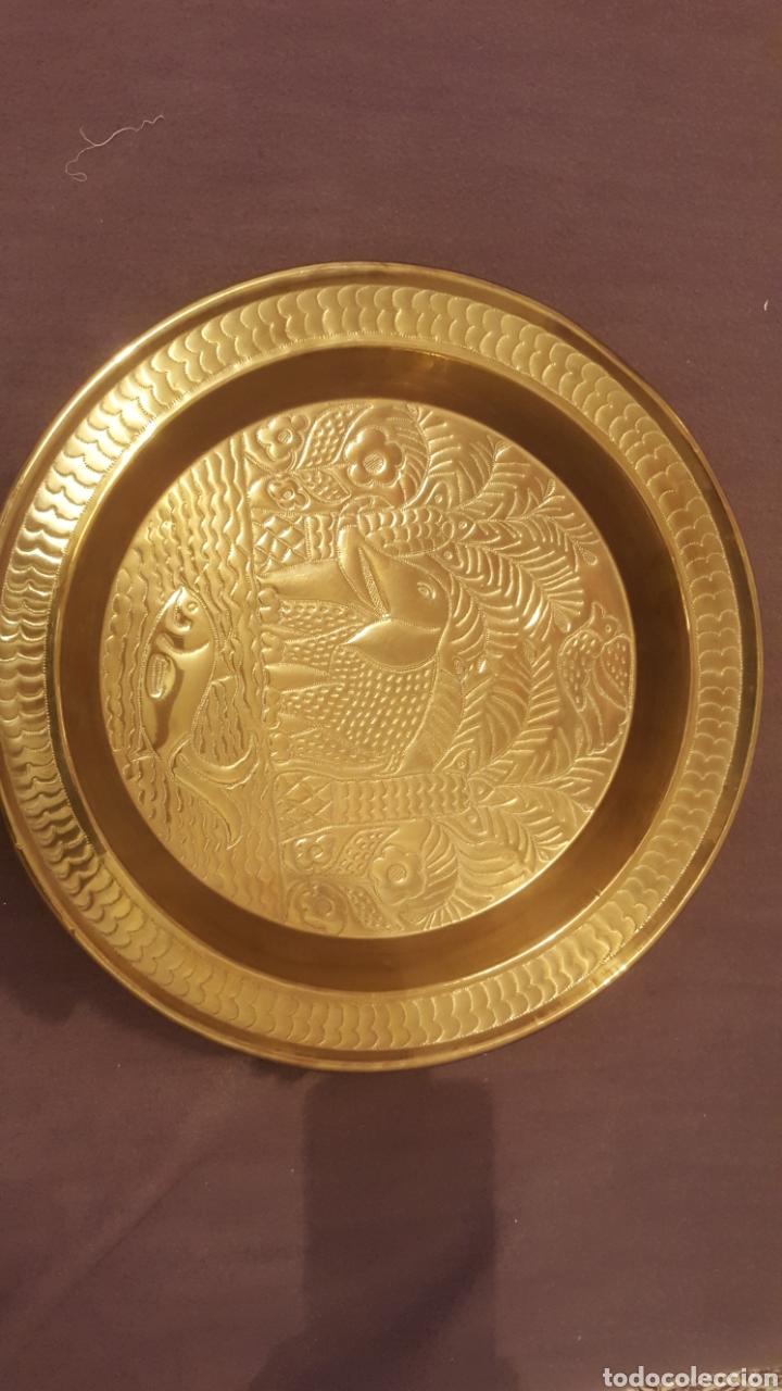 Antigüedades: Bandeja decorada de la india - Foto 2 - 111298188