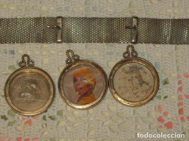 Antigüedades: PORTAFOTOS O PORTARETRATOS DE PLATA Y COLGANTES CHAPADOS EN ORO,LEER DESCRIPCION!! - Foto 6 - 111350907