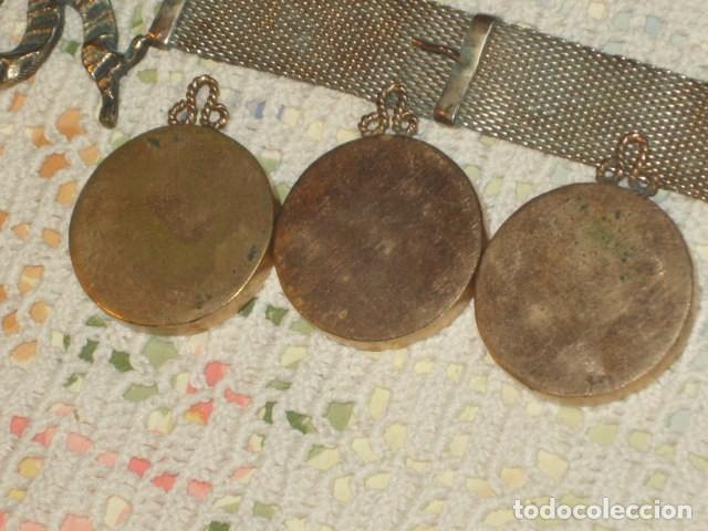 Antigüedades: PORTAFOTOS O PORTARETRATOS DE PLATA Y COLGANTES CHAPADOS EN ORO,LEER DESCRIPCION!! - Foto 8 - 111350907