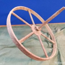 Antigüedades: RUEDA INDUSTRIAL AGRICOLA CARRETON APERO LABRANZA PENEDES CATALUÑA- (REF-1AC). Lote 111361867