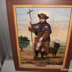 Antigüedades: CUADRO CERAMICA MANISETAS SAN ROQUE SIGLO XIX. Lote 111374971
