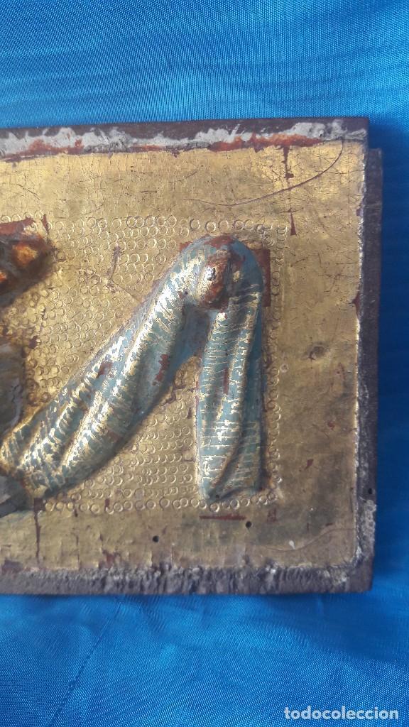 Antigüedades: Adorno de sagrario tallado siglo XVI - Foto 2 - 111378555