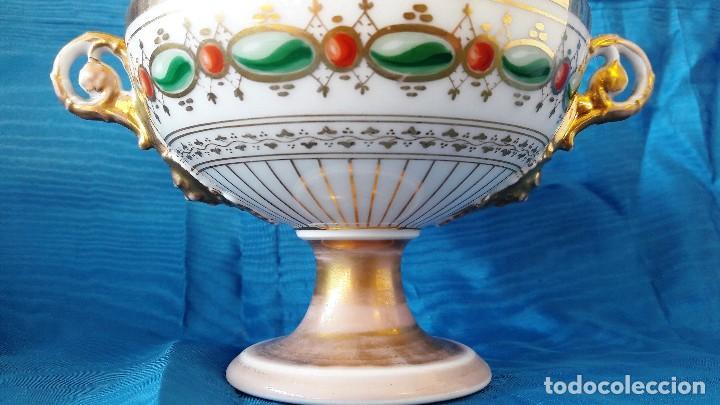 Antigüedades: Centro de mesa en porcelana de París. Siglo XIX - Foto 2 - 134018623