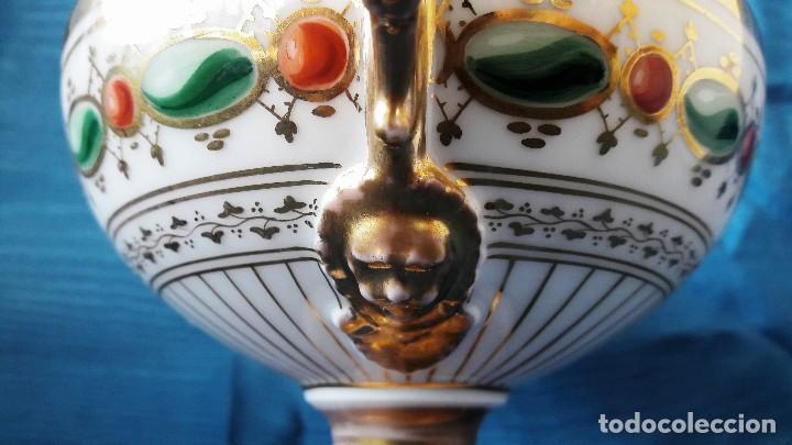 Antigüedades: Centro de mesa en porcelana de París. Siglo XIX - Foto 3 - 134018623