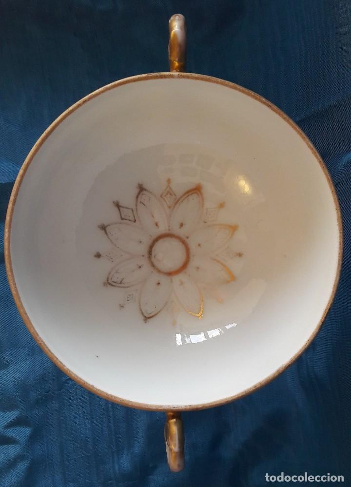 Antigüedades: Centro de mesa en porcelana de París. Siglo XIX - Foto 4 - 134018623