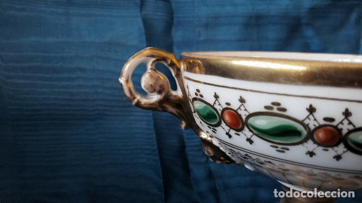 Antigüedades: Centro de mesa en porcelana de París. Siglo XIX - Foto 5 - 134018623