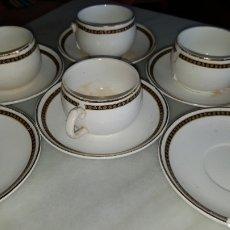 Antigüedades: JUEGO DE CAFÉ MUY ANTIGUO. CARTUJA.. Lote 111409355
