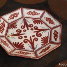 Antigüedades: ANTIGUO PLATO CERÁMICA DE REFEJOS.SANGUINO.. Lote 111410547