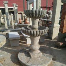 Antigüedades: FUENTE DE PIEDRA DE GRANITO A DOS ALTURAS. Lote 90224824