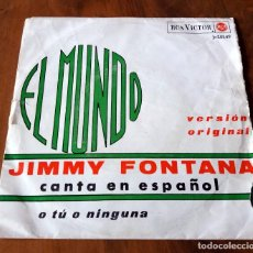 Discos de vinilo: SINGLE - DISCOS - RCA VICTOR - JIMMY FONTANA CANTA EN ESPAÑOL. Lote 111435323