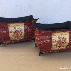 Antigüedades: JUEGO 2 MACETEROS. Lote 111446255