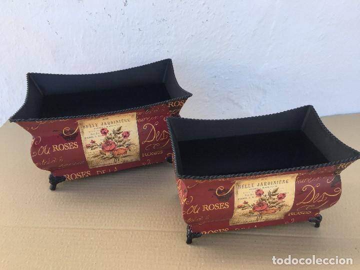 Antigüedades: JUEGO 2 MACETEROS - Foto 2 - 111446255
