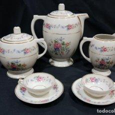 Antigüedades: TU Y YO CAFÉ O TÉ PORCELANA DE LIMOGES.. Lote 111447295